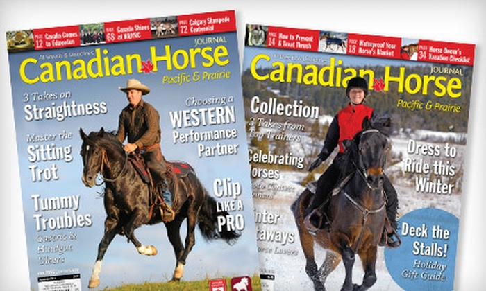 """Canadian Horse Journal: One- or Two-Year Subscription to """"Canadian Horse Journal"""" (Up to 51% Off)"""