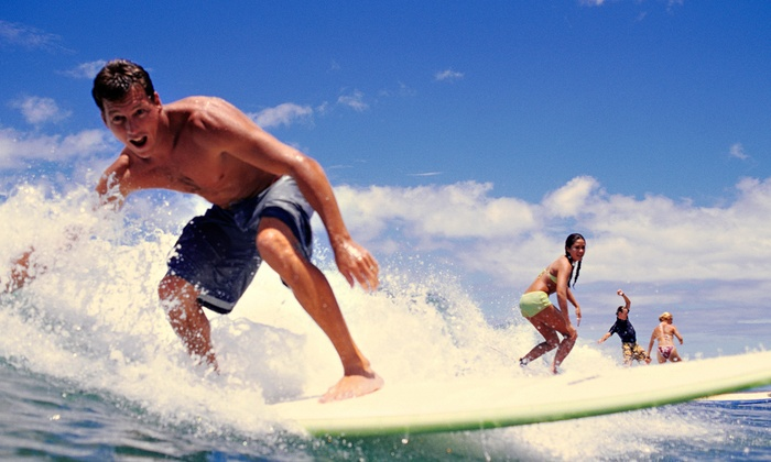 Skudin Surf - Multiple Locations: Stand Up Paddleboard Yoga or Core Class for Two or Five, or Surf Lesson or Camp at Skudin Surf (Up to 51% Off)