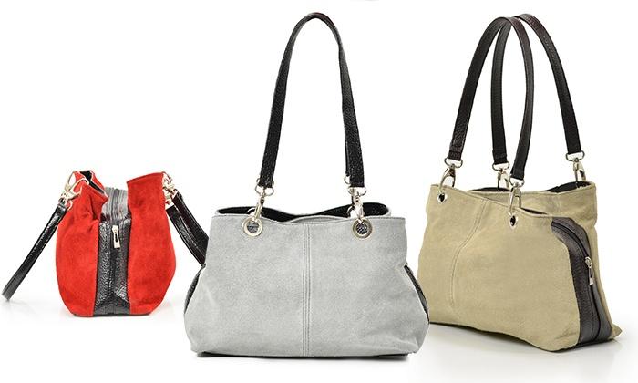 Groupon Goods Global GmbH: Carla Belotti Leder-Tasche Giselle in der Farbe nach Wahl (78% sparen*)