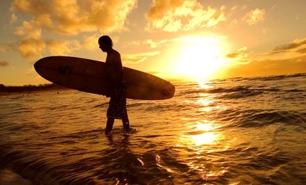 One or Three Surfing Lessons or One Lesson with a Pro Surfer at Triple X Surf and Skim (Up to 53% Off)
