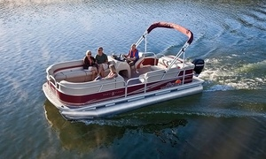 Paradise Rental Boats: Half-Day Weekday Rental of Party Barge for Up to 10 or Runabout for Up to 7 from Paradise Rental Boats (Up to 28% Off)
