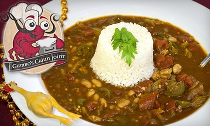 J. Gumbo's - Multiple Locations: $6 for $12 Worth of Hearty Cajun Fare at J. Gumbo's. Choose from Two Locations