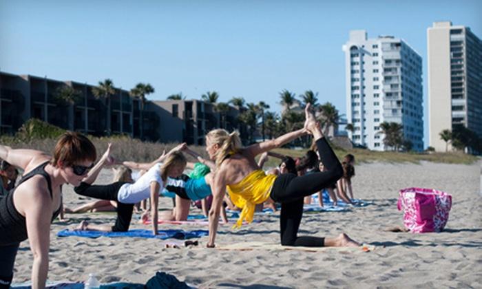 East-West Yoga - Deerfield Beach: $20 for Four Beach-Yoga Classes from East-West Yoga in Deerfield Beach ($40 Value)