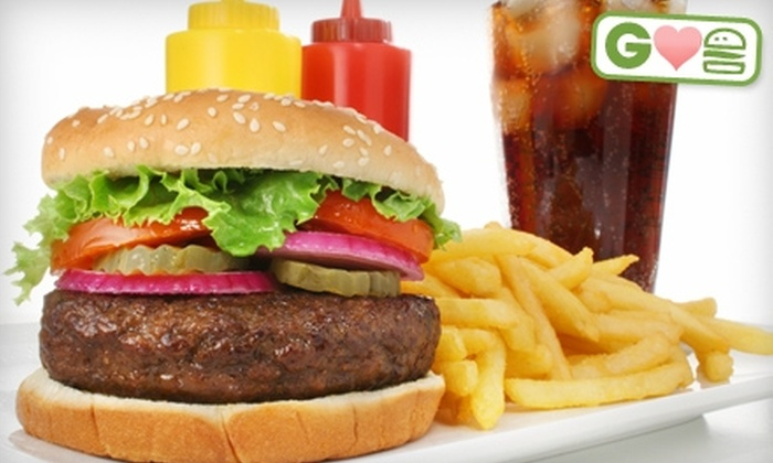 The Creekside Bar & Grill - Battersea: $10 for Two Burgers and Two Pops at The Creekside Bar & Grill in Battersea ($22.96 Value)
