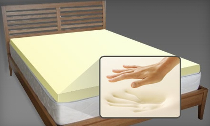 Luxury Max Memory-Foam Mattress Topper: Luxury Max Memory-Foam Mattress Topper. Shipping Included (Up to 72% Off). Four Sizes Available.