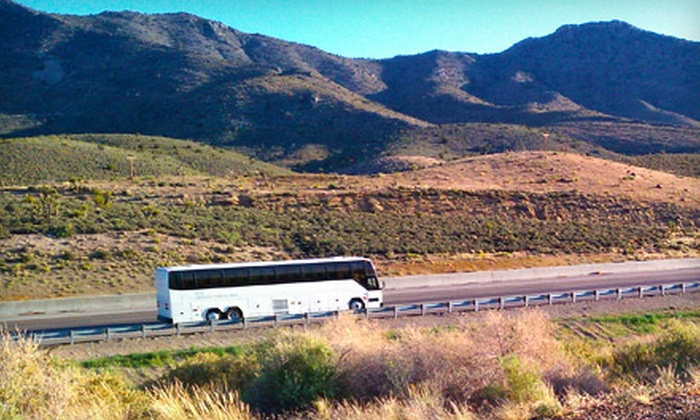 Lux Travel Group - Multiple Locations: $55 for a Round-Trip Luxury Bus Ride to Las Vegas from Lux Travel Group ($149 Value)