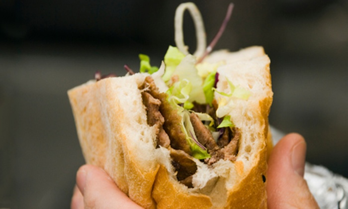 The Cheese Steak Shop - Elk Grove: $14 for Four Sandwiches and Drinks at Cheese Steak Shop in Elk Grove (Up to a $28.32 Value)