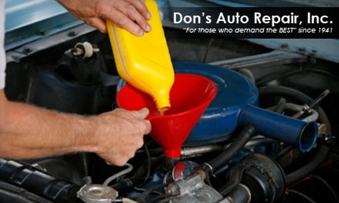 Don's Auto Repair, Inc. - Blue Ash: $24 for an Oil Change, Tire Rotation, and 23-Point Inspection at Don's Auto Repair, Inc. ($53 Value)
