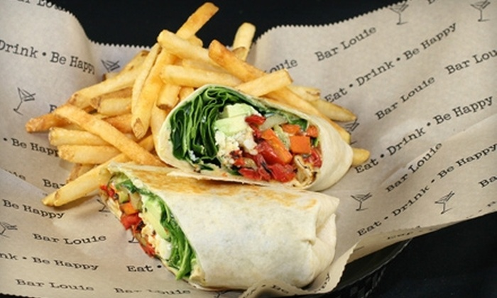 Bar Louie - River Mountain: $7 for $15 Worth of American Fare During Weekday Lunch or Weekend Brunch at Bar Louie