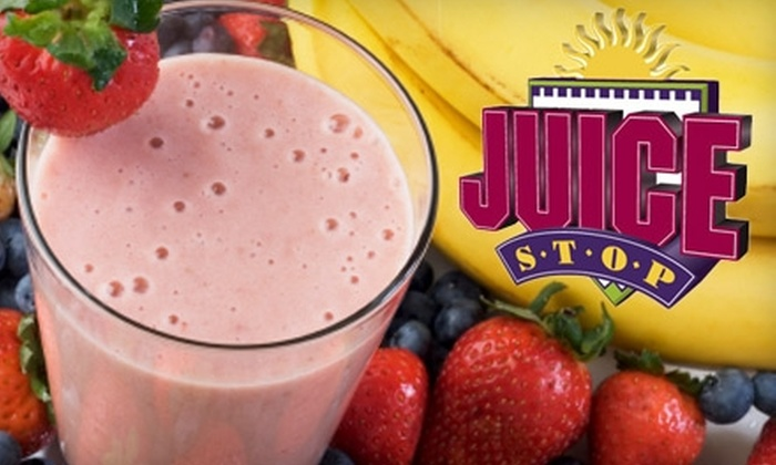 Juice Stop - Multiple Locations: $2 for a 24-Ounce Fresh-Fruit Smoothie at Juice Stop