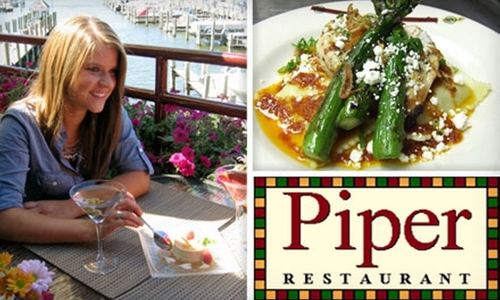 Piper Restaurant - Park: $14 for $30 Worth of Waterfront Cuisine at Piper Restaurant