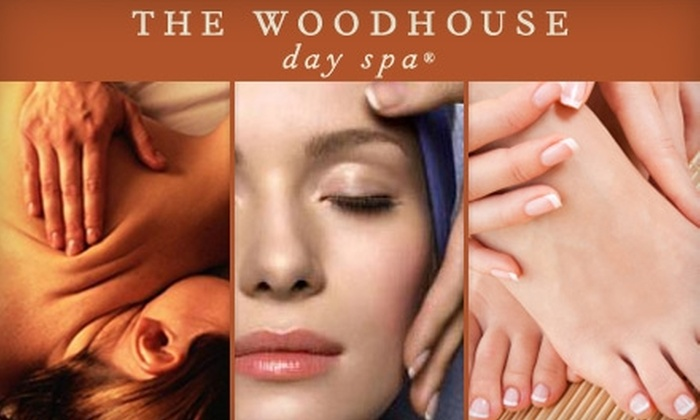 Woodhouse Day Spa - Davenport Ranch West: $55 for Choice of 80-Minute Massage, Glycolic Peel, or Firming Facial Plus $15 Gift Card For Future Visit from Woodhouse Day Spa (Up to $180 Value)