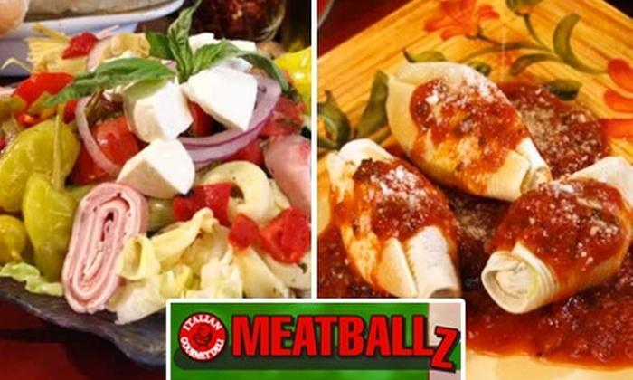 Meatballz Italian Deli - Chandler: $10 for $20 Worth of Hearty Italian Fare and Drinks at Meatballz Italian Deli in Chandler