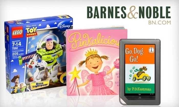 null - Nashville-Davidson metropolitan government (balance): $10 for $20 Worth of Toys and Games, Books and More at Barnes & Noble