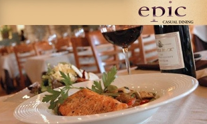 Epic Casual Dining - Midvale: $20 for $40 Worth of Contemporary American Cuisine and Drinks at Epic Casual Dining in Midvale