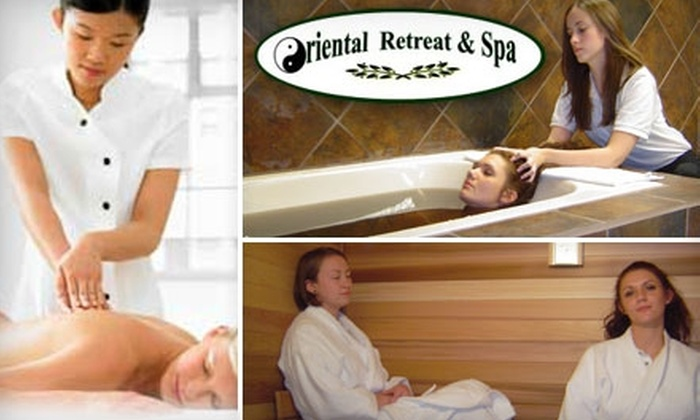 Oriental Retreat & Spa - South Rose Hill: $35 for a 45-Minute Chinese Healing Massage and Your Choice of Herbal Foot Soak or Hand Paraffin Treatment at Oriental Retreat & Spa in Kirkland ($72 Value)