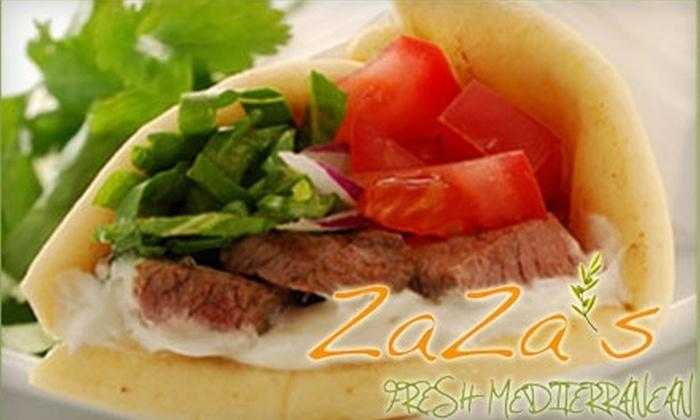 ZaZa's Fresh Mediterranean - Renaissance Commons: $10 for $20 Worth of Greek Fare at Zaza's Fresh Mediterranean