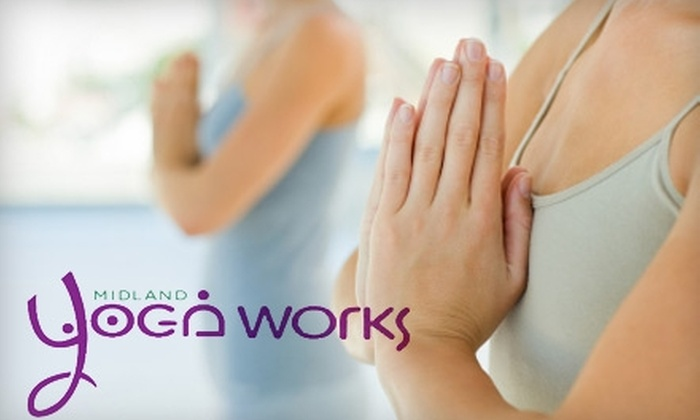 Midland Yoga Works - Colony Place: $50 for Eight Drop-In Yoga Classes at Midland Yoga Works ($100 Value)