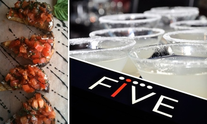 FIVE Restaurant Bistro - Edmonds: $10 for $25 Worth of Tasty Bistro Fare, Beverages, and More at Five Restaurant Bistro in Edmonds