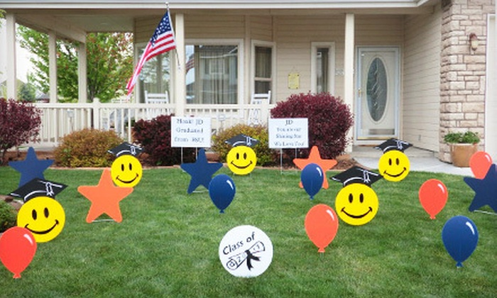 Amy's Lawn Mail - Downtown: $20 for a Decorative Lawn Greeting from Amy's Lawn Mail ($49.95 Value)