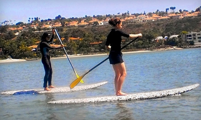 2 Stand Up Guys - Carlsbad: One Paddleboard Class from 2 Stand Up Guys in Carlsbad. Two Options Available.