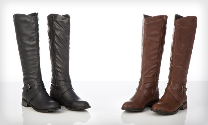 Bucco Becka Riding Boots: $38 for One Pair of Bucco Becka Riding Boots ($120 List Price). Multiple Options Available. Free Shipping and Returns.