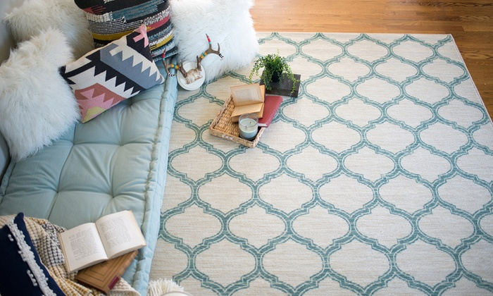 High Traffic Area Rugs In Shades Of Blue