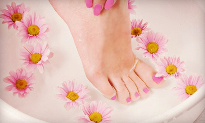 Teresa Belle Nail Salon - Lexington-Fayette: $32 for a Shellac Mani-Pedi at Teresa Belle Nail Salon ($75 Value)