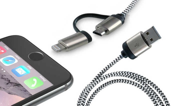 2-in-1 Aluminium Cable for AED 39 (65% Off)