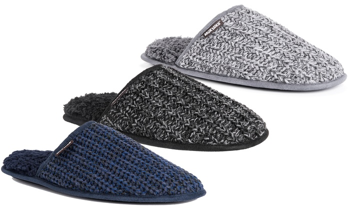 99b115d772a Muk Luks Men's Gavin Knit Slippers | Groupon