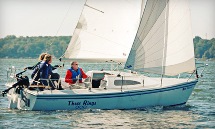 Northern Breezes Sailing School - Multiple Locations: Two-Hour Semi-Private Sailboat Trip for Two or Private Trip for Four from Northern Breezes Sailing School (Half Off)