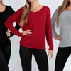 Women's Hacci V-Neck Sweaters (3-Pack)