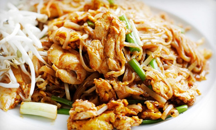 Hawkers - Gramercy Park: $26 for a Thai Meal with Snacks, Entrees, and Wine for Two at Hawkers (Up to $62 Value)