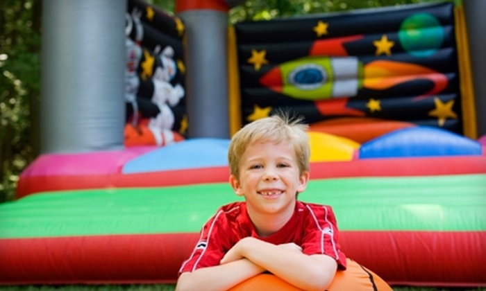 The Jump Around - Over Place Area: $10 for One 30-Day Membership to The Jump Around Inflatable Playground