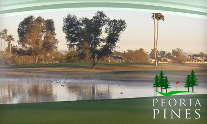 Peoria Pines Golf & Restaurant - Peoria: $28 for 18 Holes of Golf, Cart Rental, Small Bucket of Range Balls, and $10 Toward Food and Beverages at Peoria Pines Golf & Restaurant in Peoria (Up to $56 Value)