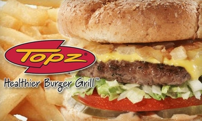 Topz Healthier Burger Grill - Downtown Birmingham: $7 for $15 Worth of Gourmet Burgers, Sandwiches, and More at Topz Healthier Burger Grill