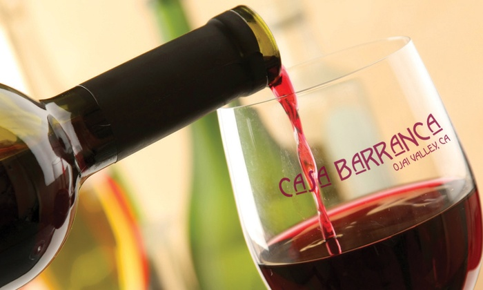 Casa Barranca - Ojai: $35 for a Wine Tasting for 2 with Take-Home Logo Stainless Steel Corkscrew and Bottle of Wine ($68 value)