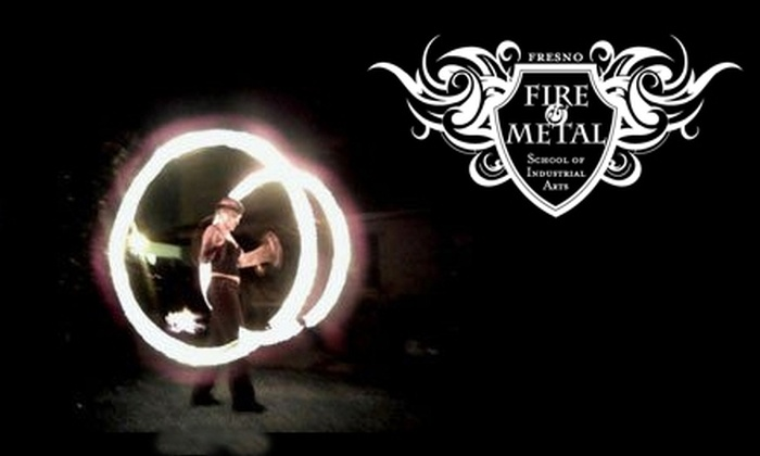 Fresno Fire and Metal - Edison: Repoussé or Poi Fire-Spinning Class at Fresno Fire and Metal. Two Options Available.