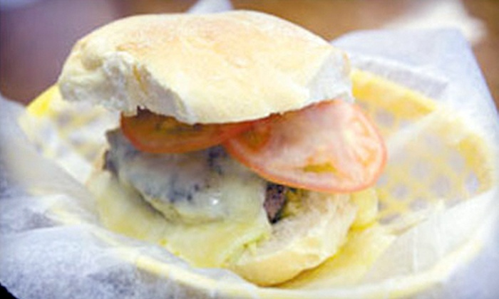 K. LaMay's Steamed Cheeseburgers - Multiple Locations: $10 for $20 Worth of Steamed Burgers and Soft Drinks at K. LaMay's Steamed Cheeseburgers in Meriden or Middletown