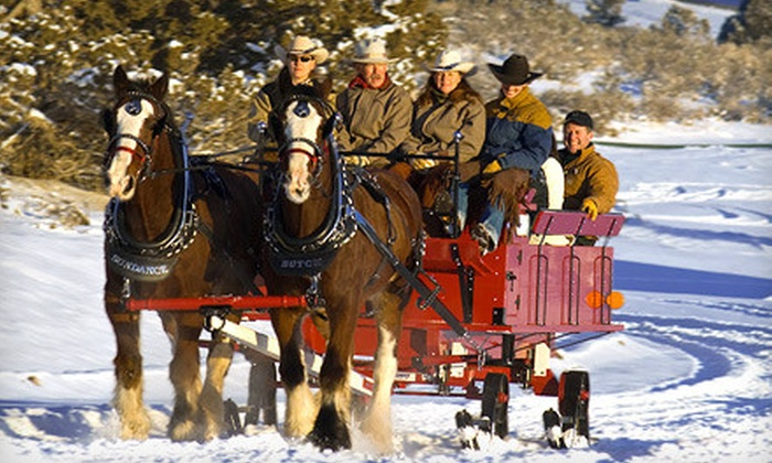 KB Horses - Heber: Sleigh Ride or Horseback Ride for Two from KB Horses in Heber City (51% Off)