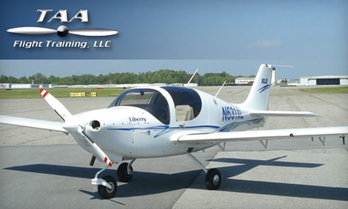 TAA Flight Training - Friendship: $84 for One-Hour Introductory Flight Lesson at TAA Flight Training LLC in Greensboro ($168 Value)