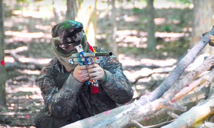 The Badlandz Paintball Field - Crete: $24 for a Paintball Package at The Badlandz Paintball Field in Crete ($57 Value)