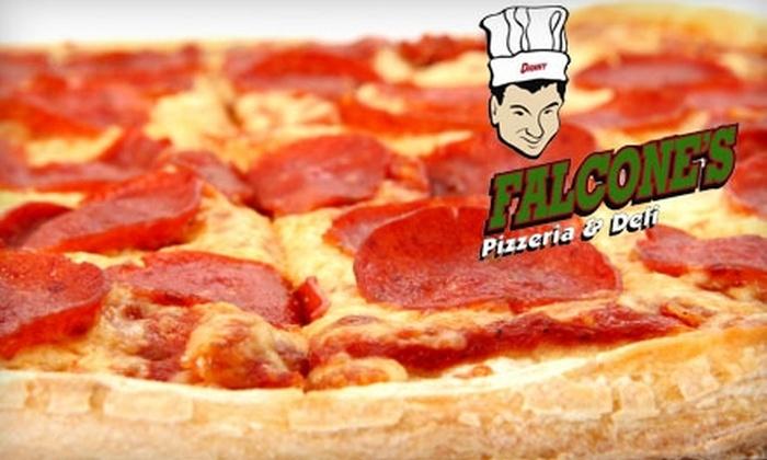 Falcone's - Multiple Locations: $9 for $18 Worth of Pizza, Deli Sandwiches, and Specialty Sodas at Falcone's Pizzeria & Deli