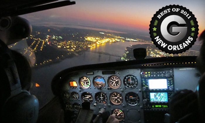 Flight Academy of New Orleans - Little Woods: $115 for a 45-Minute Big Easy Aerial Tour for Two from Flight Academy of New Orleans ($230 Value)