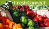 Fresh Connect - Kansas City: $19 for One Medium Box of Organic Fruit and/or Vegetables Plus Free Delivery from Fresh Connect