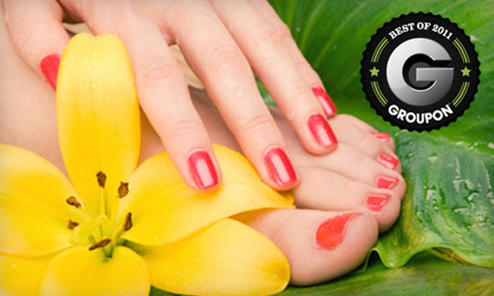 Hoy P'loy Nail Emporium - Gulf Stream: Standard, Acrylic, or Gel Mani-Pedi Package at Hoy P'loy Nail Emporium in Boca Raton (Up to 51% Off)