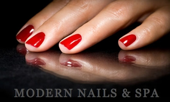 Modern Nails & Spa - Fairfax: $17 for a Spa Deluxe Manicure at Modern Nails & Spa