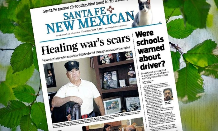 """""""Santa Fe New Mexican"""" - Uptown: $23 for a 13-Week Subscription to """"Santa Fe New Mexican"""" ($45.25 Value)"""