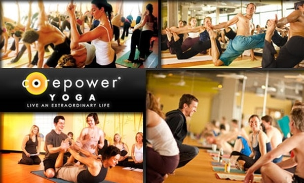 70 Off A Month Of Yoga Corepower Yoga National Groupon