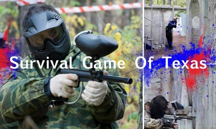 Survival Game of Texas - Magnolia Gardens: $20 for All-Day Paintballing and 300 Balls at Survival Game of Texas ($46 Value)